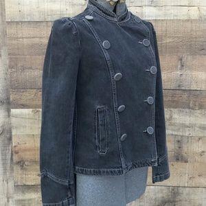 Marc Jacobs Dark Gray Denim Jacket EUC Size 6